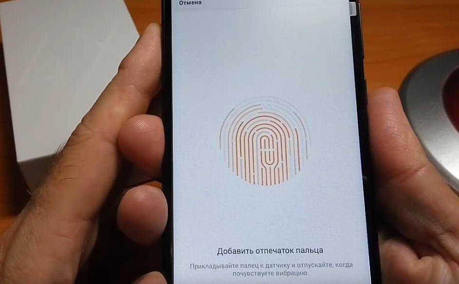 отпечаток пальца redmi 4x