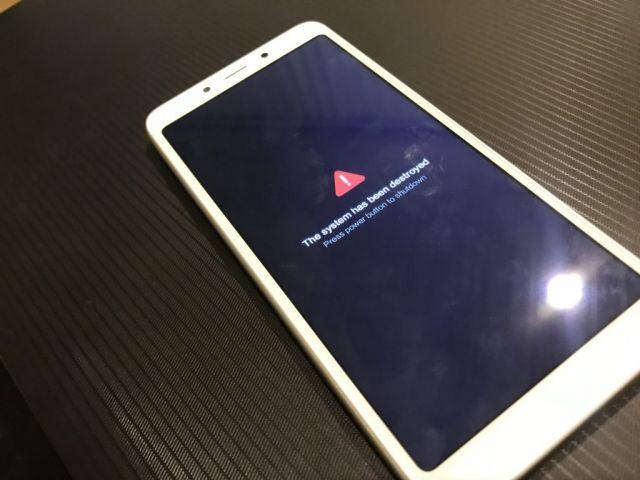 Что делать, если на смартфоне Xiaomi возникла «The system has been destroyed»?